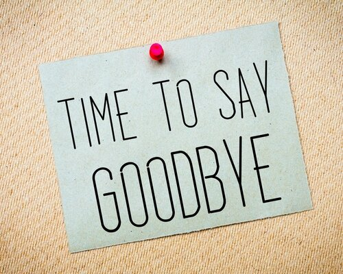 Time to say goodbye...