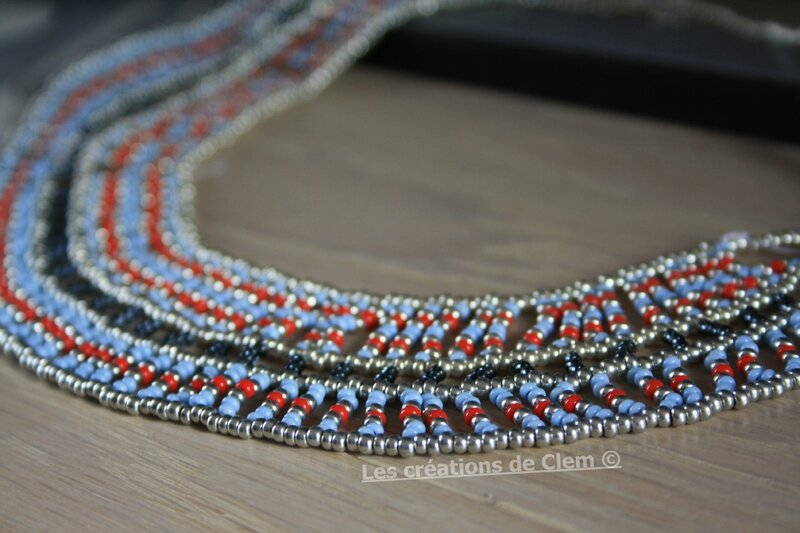 plastron - parure _ perles de rocaille - tissage - collier - beads weaving - necklace (2)