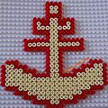 ancre marine en perles à repasser