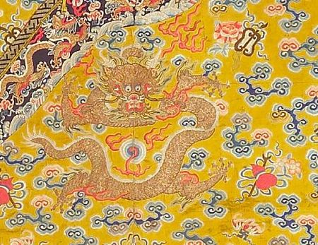 A_yellow_silk_ground_embroidered_dragon_robe1