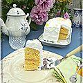 Lemon cake { tea time à l'ombre du cerisier au mileu des pivoines }