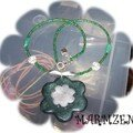Collier Fleur Verte