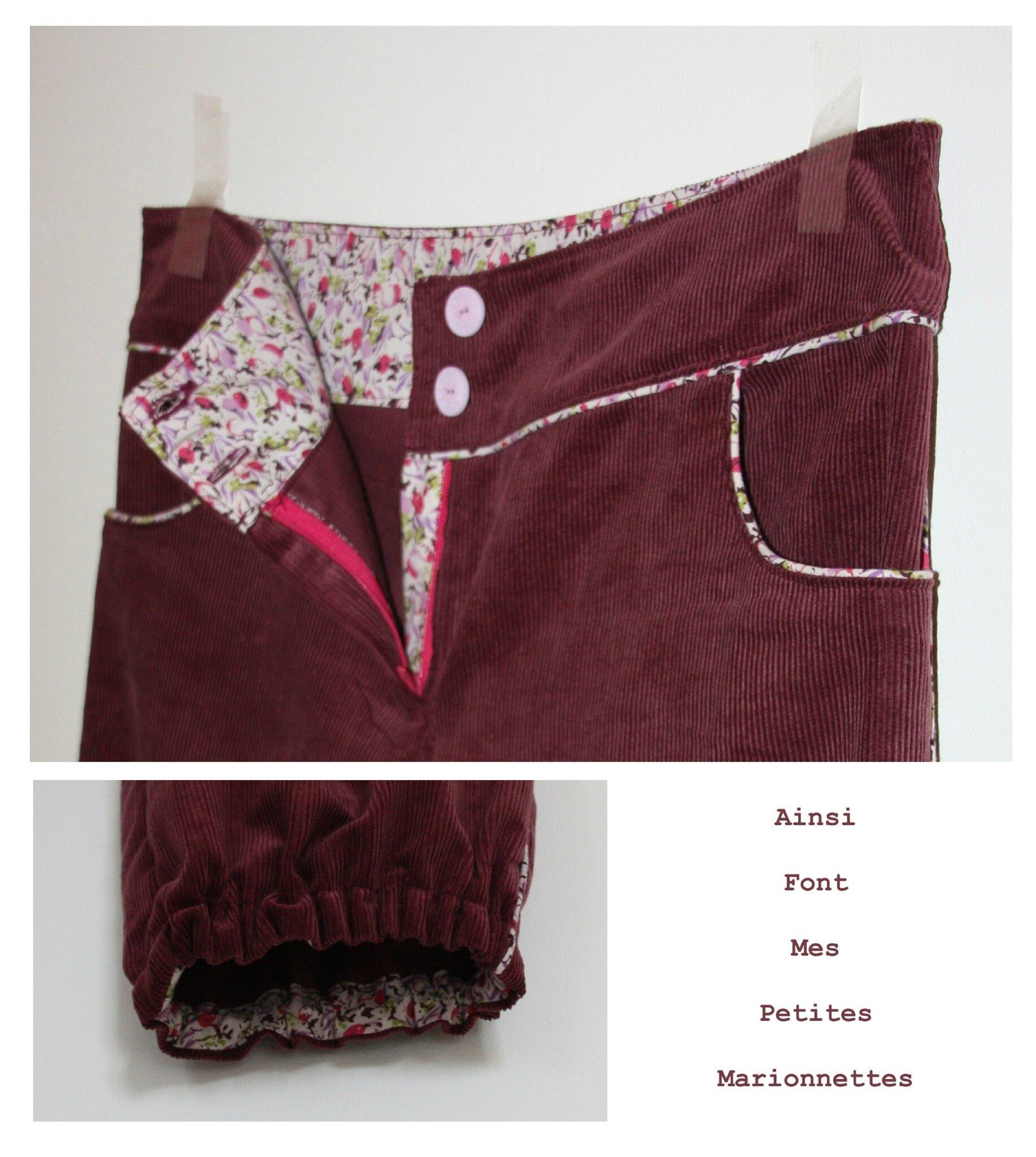 pantalon rose passepoil 6