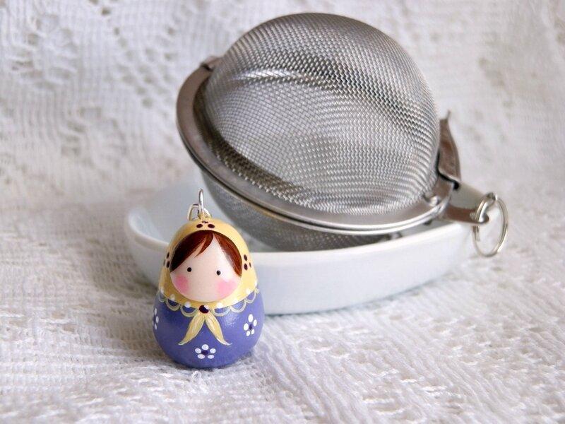 boule à thé, collier couturière, bague en feutrine 003