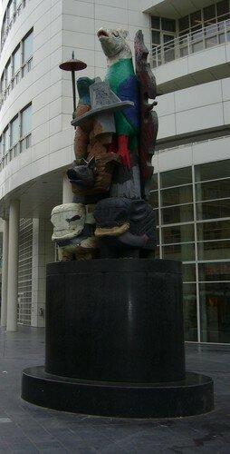 La Haye - Une des nombreuses sculptures du centre-ville