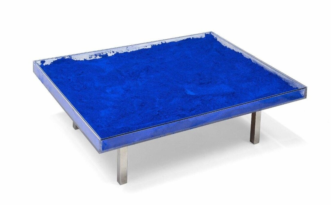 Yves Klein 1928 1962 Table Bleue 1963 Alain R Truong
