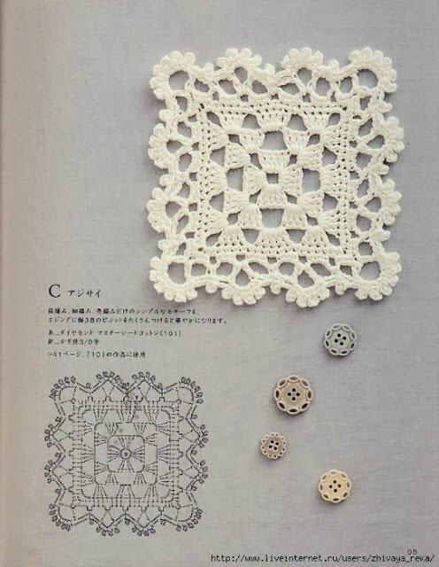 crochet lacy granny