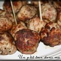 P'tites boulettes poulet et chair  saucisse