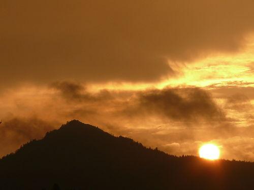 2008 10 24 Le coucher de soleil sur le Lizieux