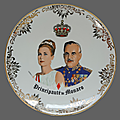 Collection ... assiette décorative grace kelly & le prince rainier * monaco