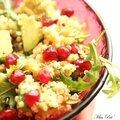 Salade colorée, quinoa grenade