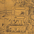 Listening to a Zither, anonymous, Yüan dynasty, Hanging scroll