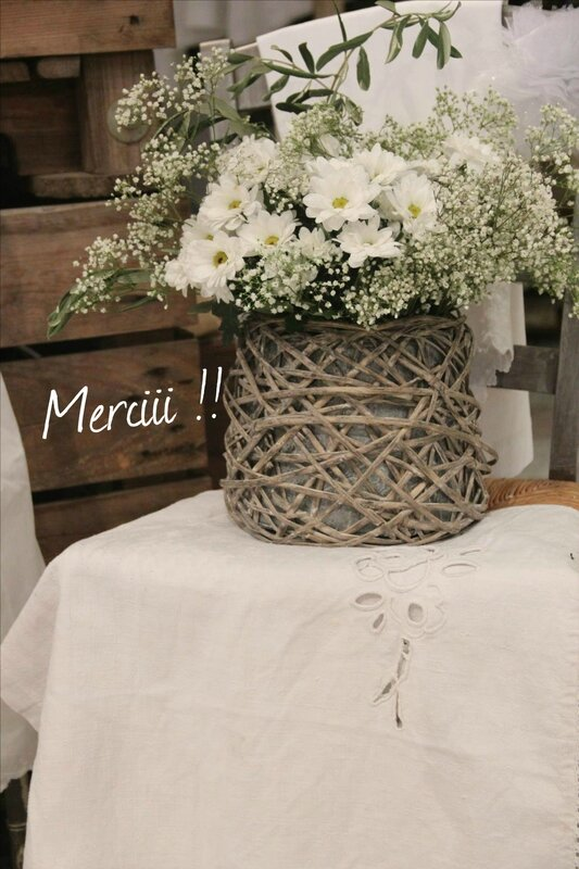 Bouquet blanc Merciii