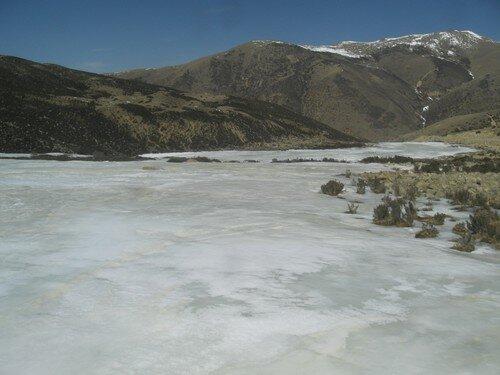 Riviere gelee, Tibet
