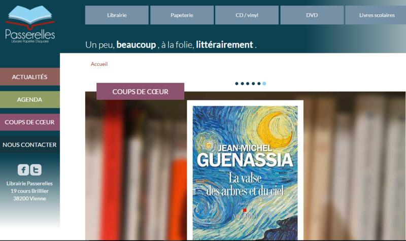 LIBRAIRIE PASSERELLES VIENNE - SITE DE LA LIBRAIRIE