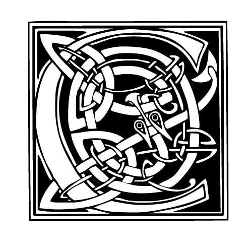 lettre typo celtique C