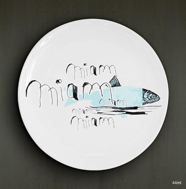 Miam miam...fish / D.26cm / Porcelaine