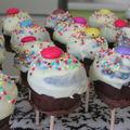 Lollipops cupcakes pour un anniversaire