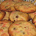Cookies aux pralines roses et aux ppites de chocolat