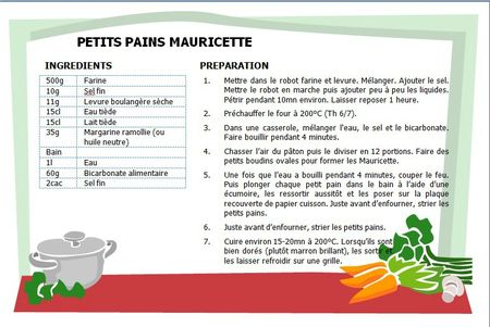 PETITS PAINS MAURICETTE