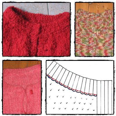comment tricoter une bande de boutonnage