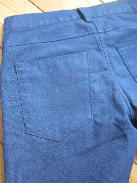 Jeans slim HOMME en toile de coton bleu majorelle - 4 poches - braguette à boutons (7)