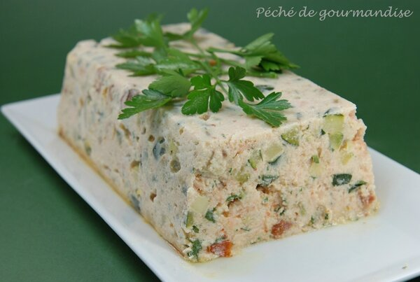 terrine de saumon aux courgettes p ch de gourmandise. Black Bedroom Furniture Sets. Home Design Ideas