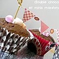 Cupcakes double chocolat (noir et toblerone) et ses minis marshmallows