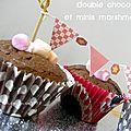 Cupcakes double chocolat (noir et toblerone) et ses minis marshmallows