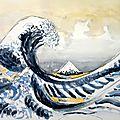 D'après la Vague de Kanagawa, du japonais Katsushika Hokusai