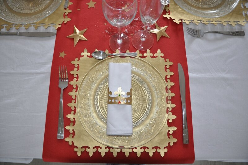 Ma d co de table epiphanie 2016 100 fait main id ecr ation for Decoration galette des rois