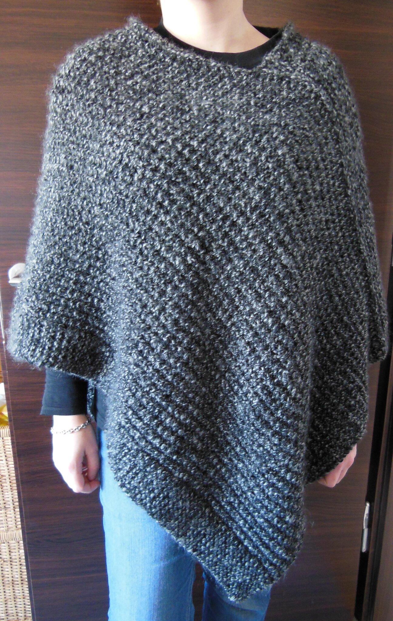 tricoter un poncho facile