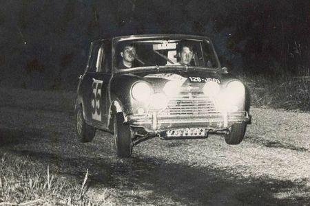 1967 - RALLYE DU MONT BLANC - Morris cooper S N° 55 (Y