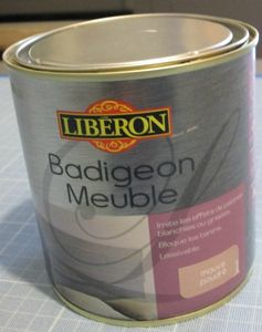 Le miroir dor patine production for Liberon badigeon meuble