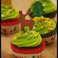 [ green velvet christmas cupcakes ]