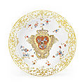 Some of the greatest royal dinner services ever to grace a table head bonhams sale of european ceramics
