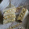 Club sandwich aux œufs mimosa