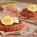 Tartelettes crues {baies de goji, bananes & chocolat}