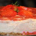 Cheese cake à la rhubarbe