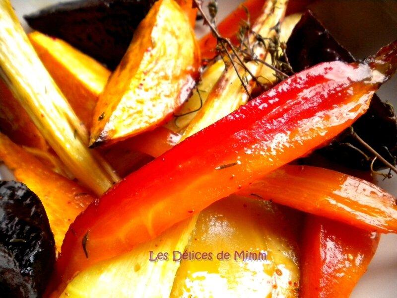 Légumes confits au four au sirop d'érable5