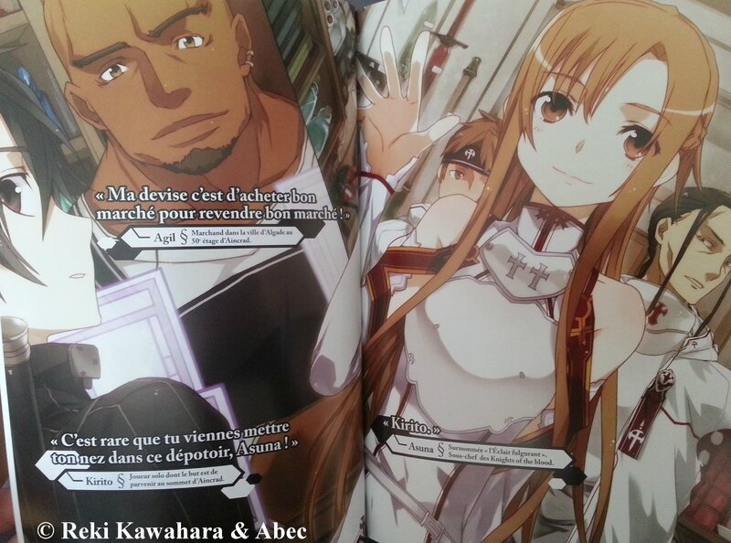 Sword Art Online Aincrad Reiki Kawahara ABEC Ofelbe éditions light novel scan 01