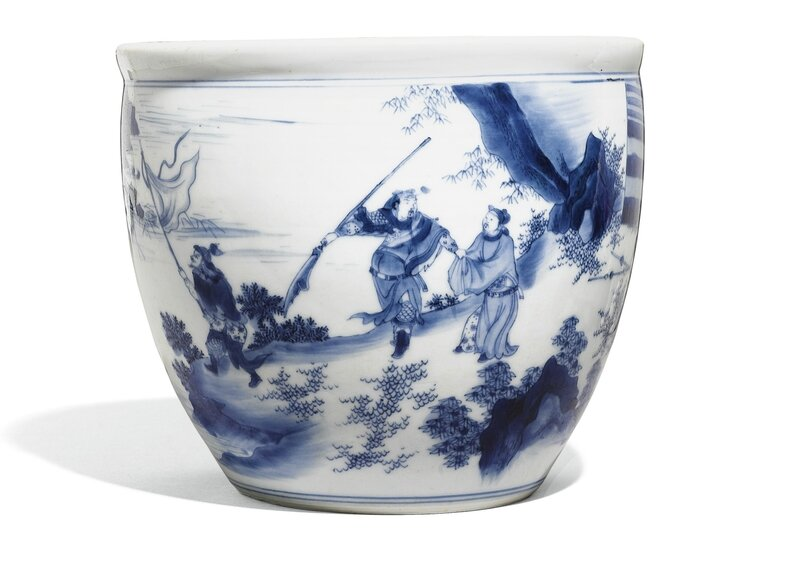 A Blue and White 'Three Kingdoms' Bowl, Gang