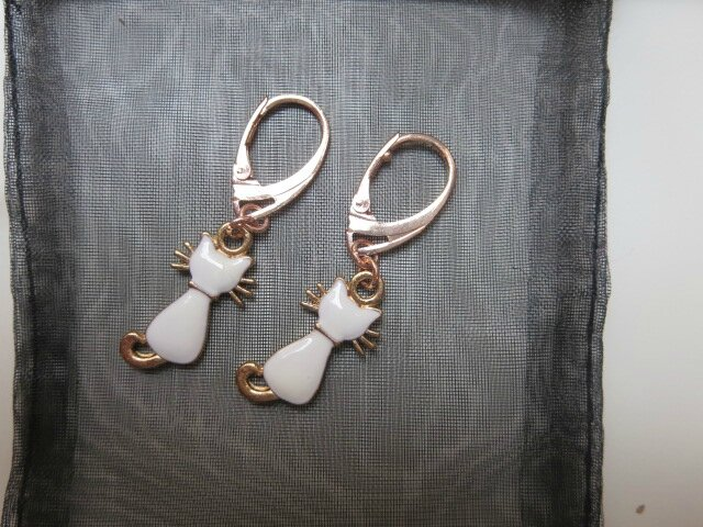 Boucles d'oreille chat