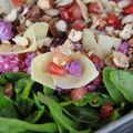 Salade d'automne aux fleurs de comté