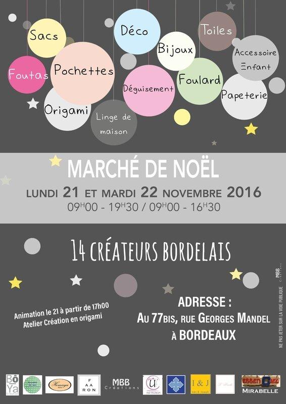 Affiche Marché des créateurs 21 et 22 NOV 2016
