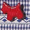 détail bouton chien