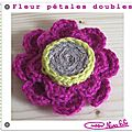 Fleur pétales doubles crochet tuto