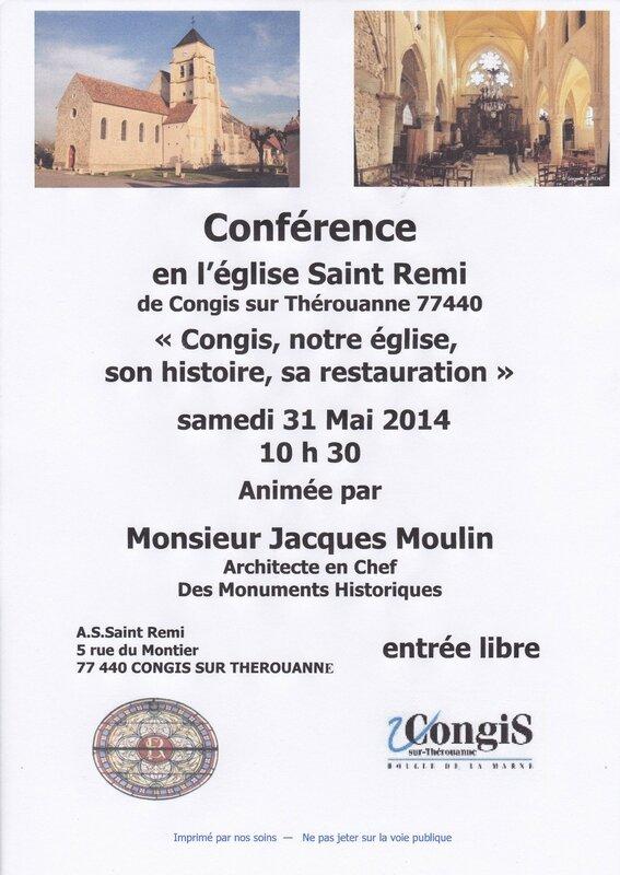 affiche conférence Jacques Moulin