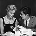 Romy schneider et alain delon, le 9 octobre 1958