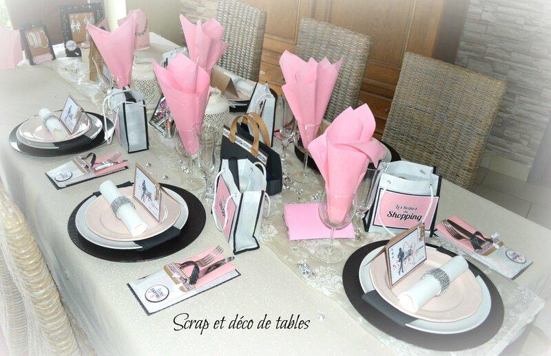 """decoration de table """"les reines du shopping""""pour les 18 ans de ma"""